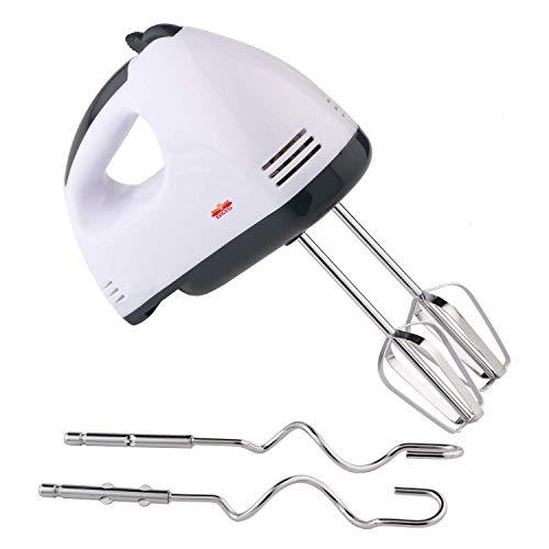 BMS Lifestyle Hand Mixer Easy Mix | Powerful 180 Watt Motor | Variable 7 Speed Control | 1 Year Warranty | (White/Black)