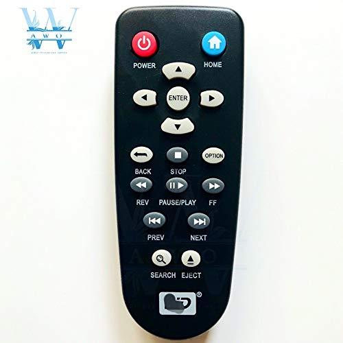 Calvas - Mando a Distancia de Repuesto para Reproductor Multimedia Western Digital WD Elements TV HD Mini Live Plus