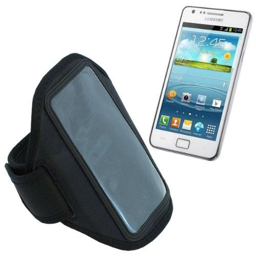 Hülle für das Samsung GT-I9100 Galaxy S2, Galaxy S2 Plus / GT-I9105 Smartphone Sportarmband, Armtasche, Handytasche, Oberarm-Tasche, Arm Case in schwarz, Handyhülle, Schutzhülle für Fitnessstudio, Freizeit, biken und Jogging