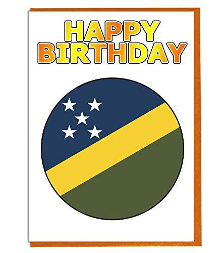 Salomon Islands Flagge – Geburtstagskarte – Fre& – Familie – Kollege – Mate – Boss – Loved One