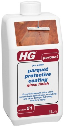 Hg Parquet & Wooden Floor & Hard Wood P.E Polish 1 Litre.P51.PLEASE NOTE: This product has been re-branded by the manufacturer as HG Parquet Protective Coating Gloss Finish (P.E Polish).