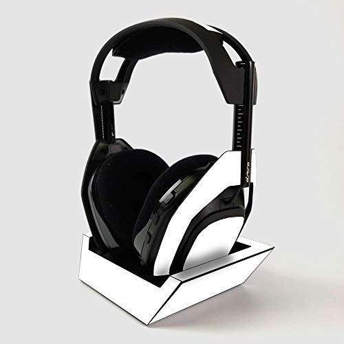 MightySkins Skin for ASTRO Gaming A50 Wireless Headphones + Base Station - Solid White | Protective, Durable, and Unique Vinyl Decal wrap cover | Easy To Apply | Made in the USA
