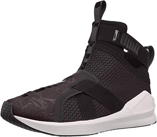 PUMA Women's Fierce Strap WN's Cross-Trainer Shoe, Black White, 7 M US