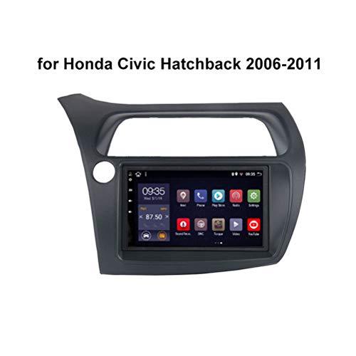 HP CAMP Autoradio Android 9.0 9' Radio Coche Navegación GPS para Honda Civic Hatchback 2006-2011, Coche Navegación Apoyo Mandos de Volante Mirror Link,WiFi 1G+16G