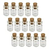 Mini botellas de vidrio con tapones de corcho Wish FOTBLLES PARA ARTES Crafts Decoración Favors Favors (50pcs)