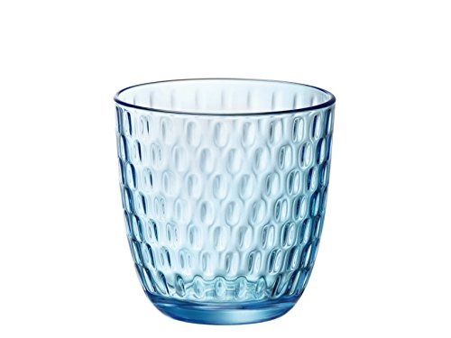 Bormioli Rocco Slot Set Bicchieri, Blu, 6 unità