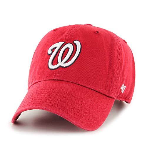 47 Brand Clean Up Cap Casquette De Baseball, Rouge Red-Nationals, Taille Unique Mixte
