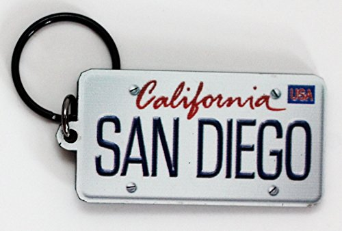 San Diego California License Plate Acrylic Keychain 2.5