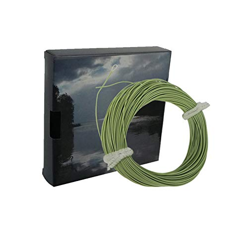 Aventik Floating Fly Fishing Line Nymph Line Ultra Thin Ultra Low Stretch Fly Line One Size All 0-5 Fly Fishing Floating Welded Loop