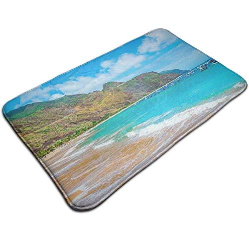 LXJ-CQ Alfombrilla para baño (31,5 x 19,5 Pulgadas), alfombras Extra Suaves y absorbentes, Alfombrillas para máquina, Vacaciones en la Playa de Tenerife
