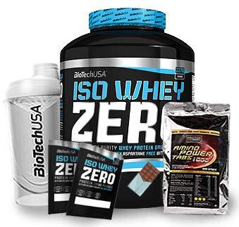 Biotech USA Iso Whey Zero (1 x 2.27 kg) + Shaker + 200 Amino Tabs 1600mg + Proben (Schoko)