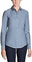 Eddie Bauer Women's Wrinkle-Free Long-Sleeve Shirt - Solid, Chambry Regular XXL