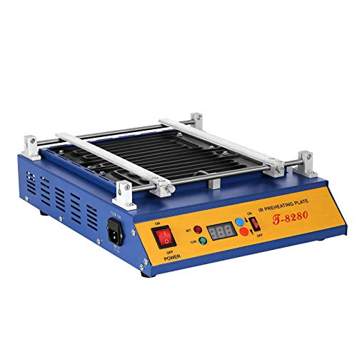 VEVOR Preheating Oven T8280 1600W Infrared Preheating Station Hot Plate PCB Preheater 280x270MM