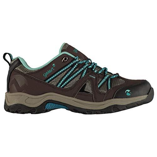 Gelert Ottawa Chaussures de marche basses en dentelle non imperméable pour femme - Marron - Marron, bleu sarcelle., 38 EU