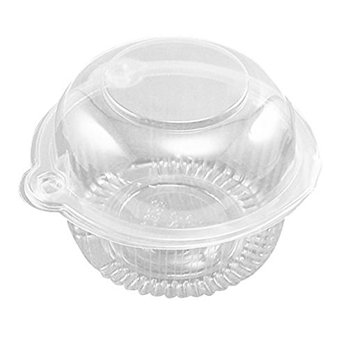 Sealike Single Individual Clear Plastic Cupcake Muffin Dome Holders Cases Boxes Cups Pods 100 Pcs with Stylus