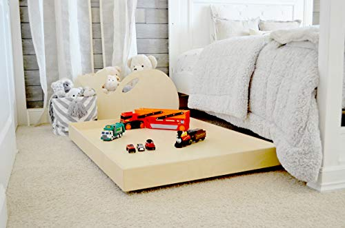 Little Colorado Kids Trundle Under Bed Train Table – Children's Wooden Play Table Fits Under Any Bed/Easy Assembly/Handcrafted in The USA (Unfinished)