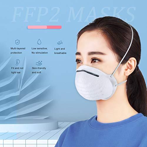 Atemschutzmaske FFP2 Maske Atemschutz Mundschutz Atemschutzmaske zur Prophylaxe Schmierinfektionen & Tröpfcheninfektionen (1PCS) - 8