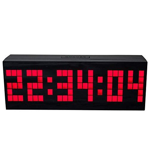 NAttnJf San Valentino Regalo Specchio di Superficie Digitale LED Orologio a Muro Calendario Orologio Conto alla rovescia Timer - Rosso