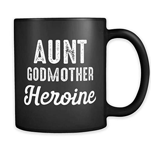 Taza de heroína de tía madrina, taza de madrina, regalo de madrina, nuevo regalo de madrina, anuncio de bebé, regalo para madrina, regalo de héroe