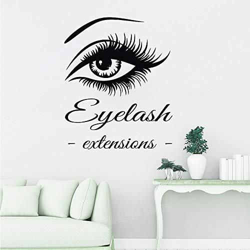 Stickers Muraux Œil Cils Extensions Art Décor À La Maison Grands Cils Sourcils Nouvelle Arrivée