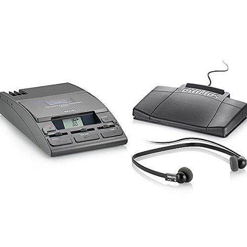 Philips lfh0725-p52escritorio 725analógico Mini sistema de transcripción ejecutiva de casete con micrófono y Control de pie