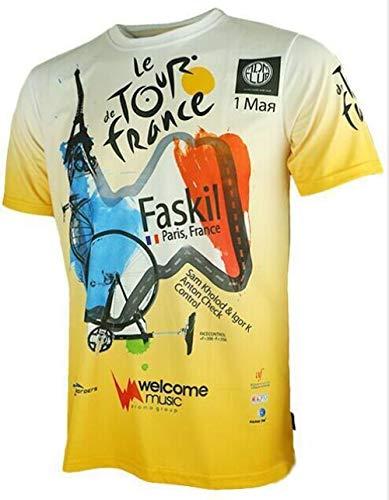 YGDH Heiße Verkaufende Tour Der France Hochwertiger Bunt Radtrikot Nur Sportbekleidung Aus Schönen Materialien Einiger Größen Hergestellt (Color : White, Size : XL)