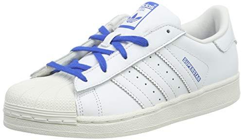 adidas Superstar C, Zapatillas de Gimnasia Unisex Niños, Blanco (FTWR White/Blue), 33 EU