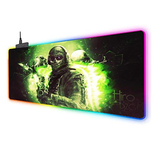 Mouse Pads RGB Gaming Mouse Mat Pad Call of Duty Led Glowing Extended Mousepad with Non Slip Rubber Base for Pc Laptop Desktop 5001000Mm