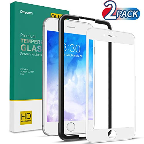 Deyooxi Protector de Pantalla para iPhone 6S/iPhone 6, 2 Unidades Cristal Vidrio...