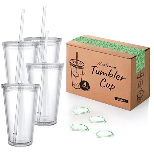 Vasos Plastico Duro Reutilizable Con Tapa vasos plastico  Marca MFA MARFRAND