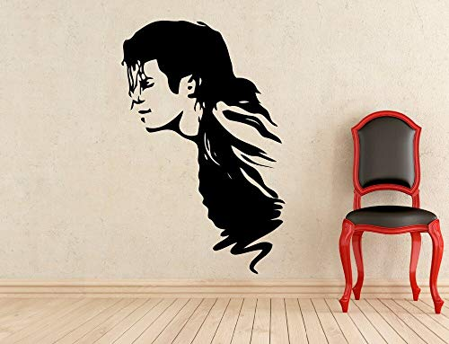 Ajcwhml King of Top Music Star Singer calcomanía de Pared de Vinilo Pegatinas de Pared decoración Interior del hogar Sala de Estar Arte Mural DIY 57x37cm