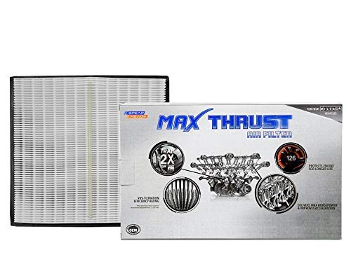 Spearhead Max Thrust Performance Engine Air Filter For All Mileage Vehicles - Increases Power & Improves Acceleration (MT-295)