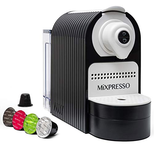 Mixpresso Espresso Machine for Nespresso Compatible Capsule, Single Serve Coffee Maker Programmable Buttons for Espresso Pods, Premium Italian 19 Bar High Pressure Pump 27oz 1400W (Black)