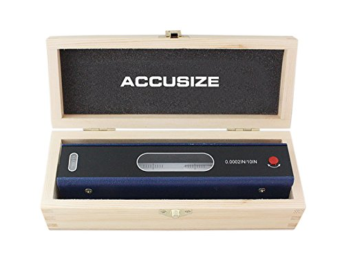 Accusize Industrial Tools 8'' Master Precision Level in Fitted Box, Accuracy: 0.0002''/10'', S908-C685