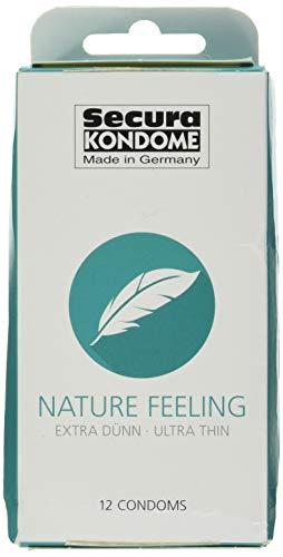 Secura Nature Feeling 12er Kondome - 12 hauchzarte Präservative zur Verhütung ohne Hormone für Männer, transparent