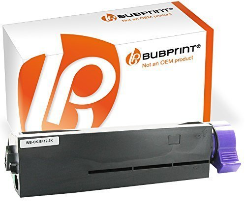 Bubprint Toner kompatibel für Oki 45807106 für B412DN B432DN B512DN MB472DNW MB492DN MB562DNW 7000 Seiten Schwarz