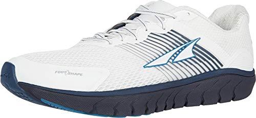 ALTRA Men's AL0A4PEA Provision 4 Road Running Shoe, White/Navy - 10.5 M US