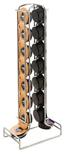 MACOM Just Kitchen 602 Totem Coffee Lavazza a Modo Mio Dispenser Portacapsule per Macchine Caffè, 16 capsule, acciaio cromato