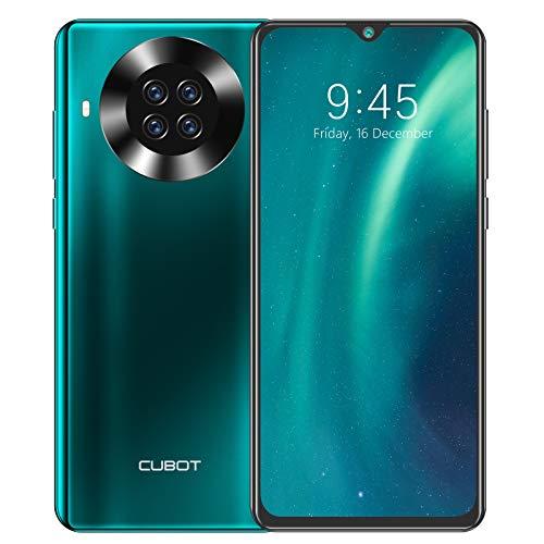 Teléfono móvil sin contrato, CUBOT Note 20 Pro, pantalla HD de 6,5 pulgadas, 8 GB de RAM + 128 GB de memoria, batería de 4200 mAh, 4G Dual SIM, Android 10, cámara AI de 20 MP (verde)
