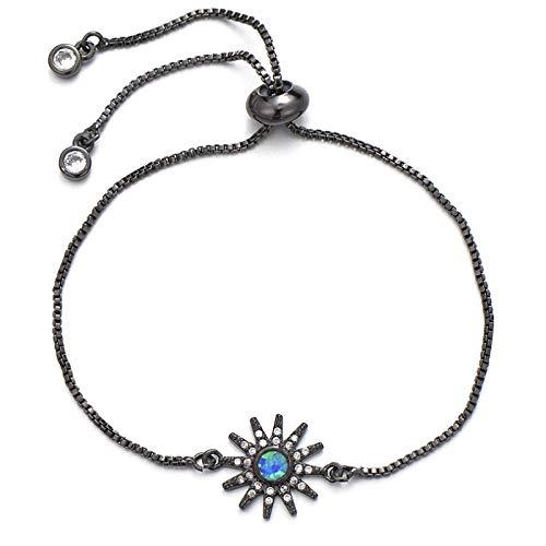 ShFhhwrl Hand Bangle Bracelets Jewellery For Womens Shiny Bracelet Copper Adjustable Chain Full Micro Pave Cubic Zirconia Bracele