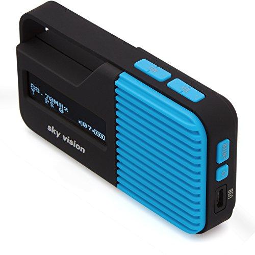 Sky Vision DAB Radio 11 B – Kleines, tragbares Mini Digital Radio, Outdoor, DAB+, FM/UKW Tuner, USB Ladefunktion (Blau)