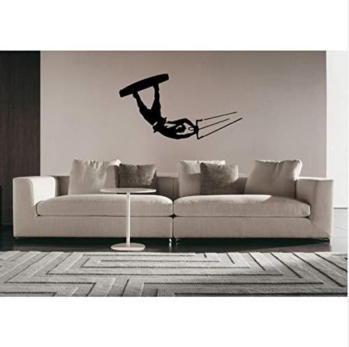 Kitesurf Wakeboard Windsurf Surf Parapente Etiqueta de La Pared Tatuajes de Decoración Del Hogar Arte Mural Wallpaper Polivinilo 56X89Cm
