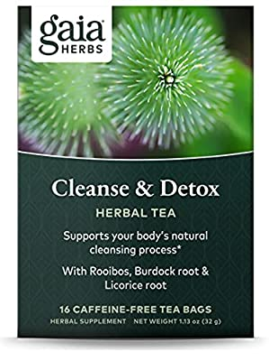 Gaia Herbs Cleanse & Detox Herbal Tea, 16 Tea Bags - Everyday Cleansing & Detoxification, Healthy Liver Function from Gaia Herbs-genfd