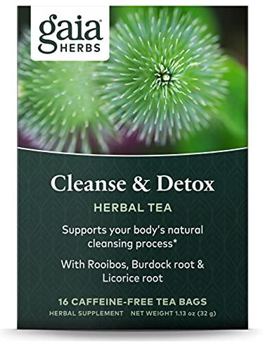 Gaia Herbs Cleanse & Detox Herbal Tea, 16 Tea Bags - Everyday Cleansing & Detoxification, Healthy...