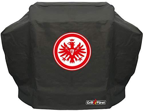 Grillfürst Grill Abdeckhaube/Schutzhülle - Eintracht Frankfurt Edition - 155 x 66 x 124 cm für Napoleon (LE3, LEX485, Rogue 525), Broil King (Crown, Baron, Signet), Weber Genesis II 3-Brenner