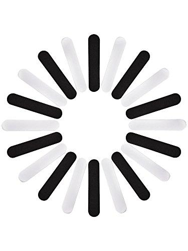 Bememo 20 Stücke Hut Größe Reduzierer Schaum Reduzierband für Hüte Mütze Schweißband, Schwarz und Weiß (4,3 x 0,8 x 0,12 Zoll)