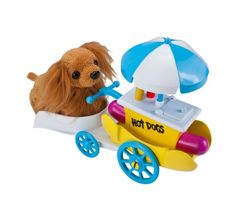 Zhu Zhu Puppies - 2742 - Jeu Electronique - Véhicule - Chariot à Hot Dog