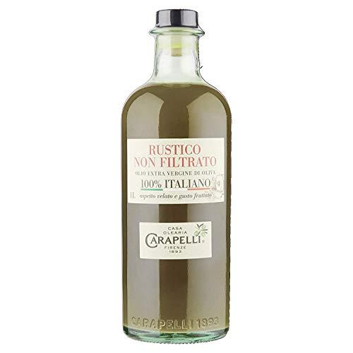 3x Carapelli Non filtrato 1L olio vergine oliva Extra nativ Natives Olivenöl