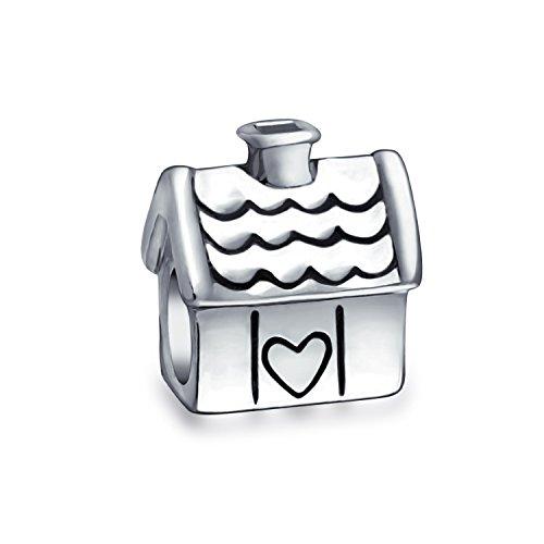 Sweet Home Maison De Famille Nouveau Propriétaire Charms Et Perles Femme Ados Oxydées Argent Bracelet Européen