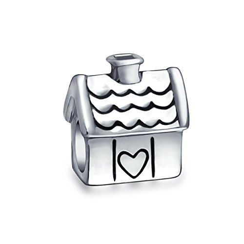 Sweet Heart New Homeowner Family House Charm Perline per donne Teen Ossidato .925 Argento Sterling Si adatta al braccialetto europeo